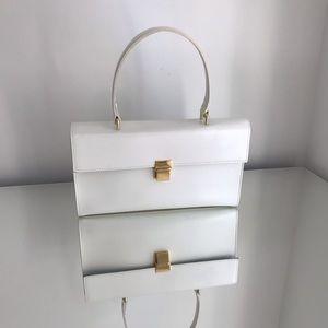 Cute white and gold clutch